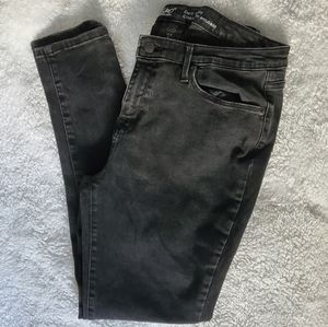 FADED WASH BLACK JEANS